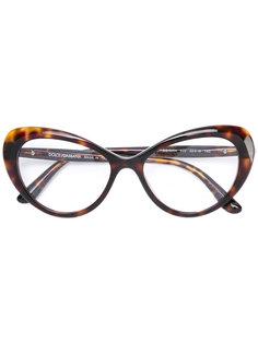 очки в оправе с леопардовым рисунком Dolce & Gabbana