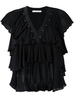 топ с рюшами без рукавов  Givenchy