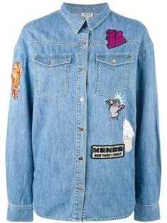 джинсовая рубашка с заплатками Kenzo