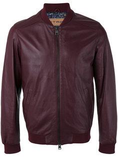 кожаная куртка-бомбер Etro