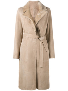 belted trench coat Yves Salomon