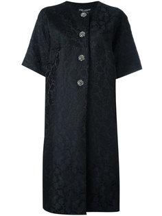 жаккардовое пальто  Dolce & Gabbana