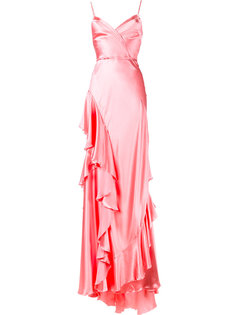 вечернее платье с оборками Gucci