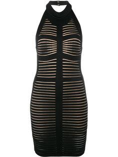 облегающее платье без рукавов с открытой спиной Balmain