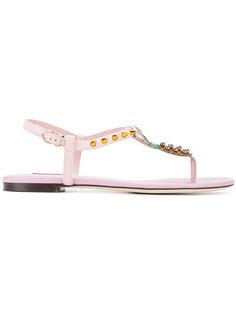 сандалии с отделкой в форме ананасов Dolce & Gabbana