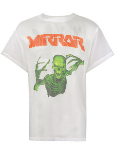 полупрозрачная футболка с изображением скелета Off-White