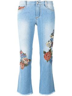 укороченные джинсы с цветочным принтом Ermanno Scervino