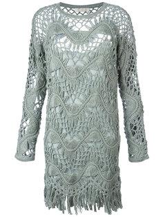 платье макраме с бахромой Chloé