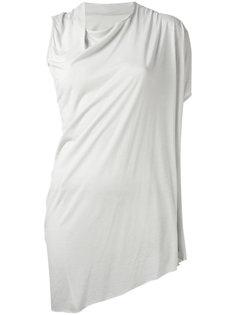 асимметричная футболка с драпировкой Rick Owens Lilies