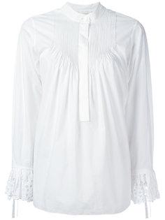 ажурная блузка с присборенной отделкой Chloé