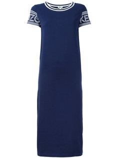 платье-футболка кроя миди Kenzo