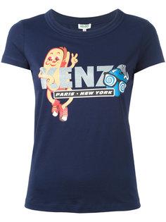 футболка с принтом хотдога Kenzo