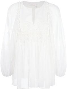 блузка с гипюровой отделкой  Chloé