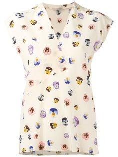 ditsy pansy print blouse Christopher Kane