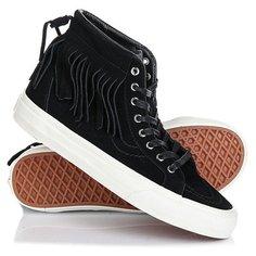 Кеды кроссовки высокие Vans Sk8-hi Moc suede Black/