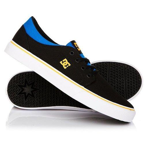 Кеды кроссовки низкие детские DC Trase Tx Black/Blue/Grey