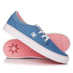 Кеды кроссовки низкие детские DC Trase Tx Se Blue/White Print