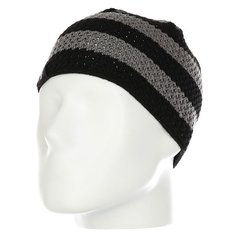Шапка Fallen Buffalo Striped Knits Beanie Black/Charcoal
