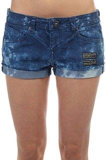 Шорты джинсовые женские Volcom Soundcheck Short Navy Tie Dye
