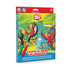 Наборя для творчества Tropical Birds Coloring Set Artberry Erich Krause