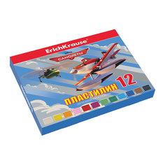 Пластилин 12 цветов Flying Planes, 216г, со стеком Erich Krause