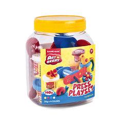 Набор для лепки: Пластилин на растительной основе Press Playset 4 цвета по 35г Erich Krause