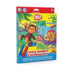 Набор для творчества Fish & Monkey Coloring Set Artberry Erich Krause