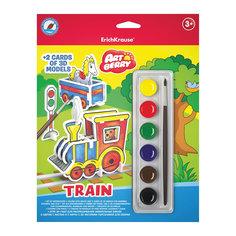 "Игровой 3D-пазл для раскрашивания ""Поезд"", Artberry Erich Krause"