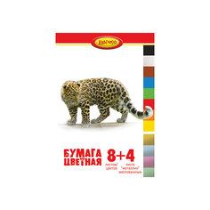 """Цветная бумага """"Хищники"""", 12 листов Limpopo"""