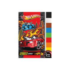 Цветная бумага (8 цветов, 8 листов), Hot Wheels Limpopo