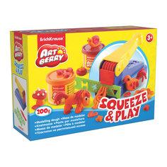 Набор для лепки: Пластилин на растительной основе Squeeze & Play 2 цвета по 100г Erich Krause