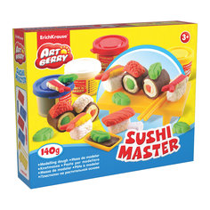 Набор для лепки: Пластилин на растительной основе Sushi Master 4 цвета по 35г Erich Krause