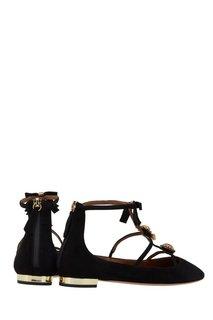Замшевые туфли Pandora Flat Aquazzura
