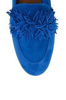 Замшевые туфли Wild Loafer Pump Aquazzura