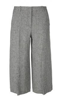 Укороченные льняные брюки прямого кроя Theory
