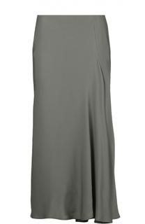 Шелковая юбка миди с асимметричным низом Theory