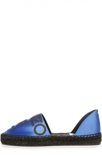 Атласные эспадрильи Paris с аппликацией Kenzo