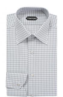 Хлопковая сорочка с итальянским воротником Tom Ford