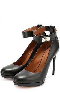 Кожаные туфли Shark Lock на шпильке Givenchy