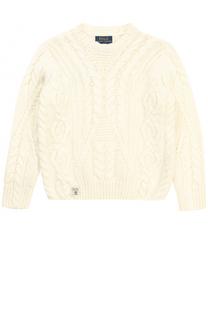 Пуловер джерси фактурной вязки Polo Ralph Lauren