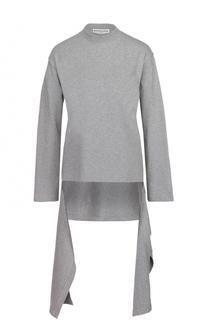 Пуловер асимметричного кроя с длинными рукавами и круглым вырезом Balenciaga