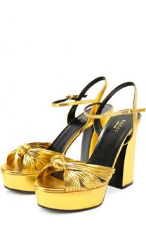 Кожаные босоножки Allie на высоком каблуке и платформе Gucci