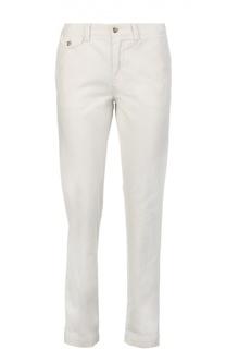 Хлопковые прямые брюки с прорезными карманами Polo Ralph Lauren