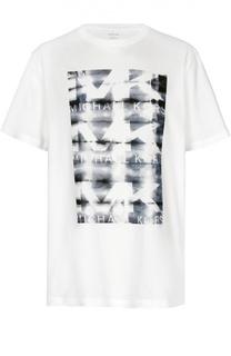 Хлопковая футболка с принтом Michael Kors