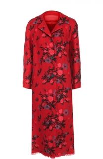 Пальто прямого кроя с цветочным принтом Valentino