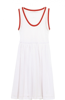 Мини-платье с завышенной талией и контрастной отделкой Givenchy
