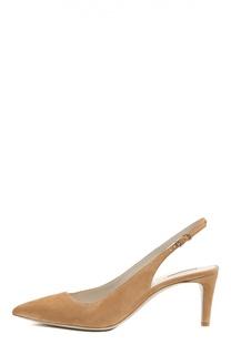 Замшевые туфли с открытым задником Giorgio Armani