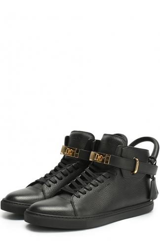 Высокие кожаные кеды на шнуровке Buscemi