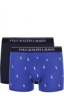 Комплект  из двух хлопковых боксеров с широкой резинкой Ralph Lauren