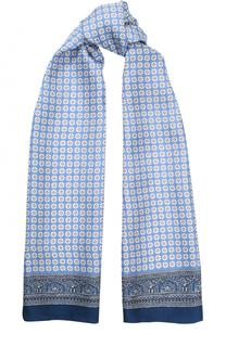 Шелковый шарф с узором Eton